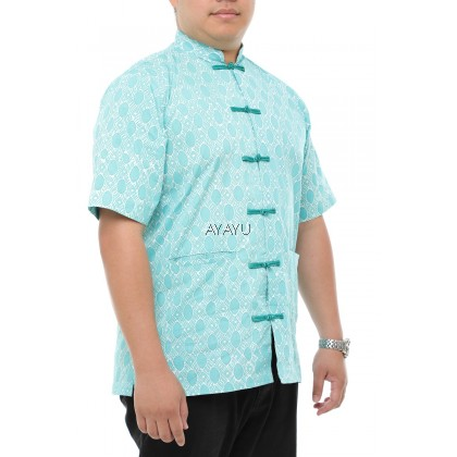ONGLAI Men Samfu Short Sleeves Green